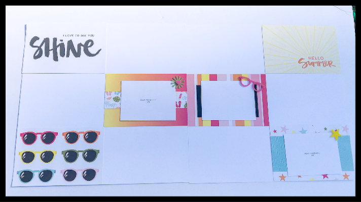 Double Scrapbook Layout that is quick and easy