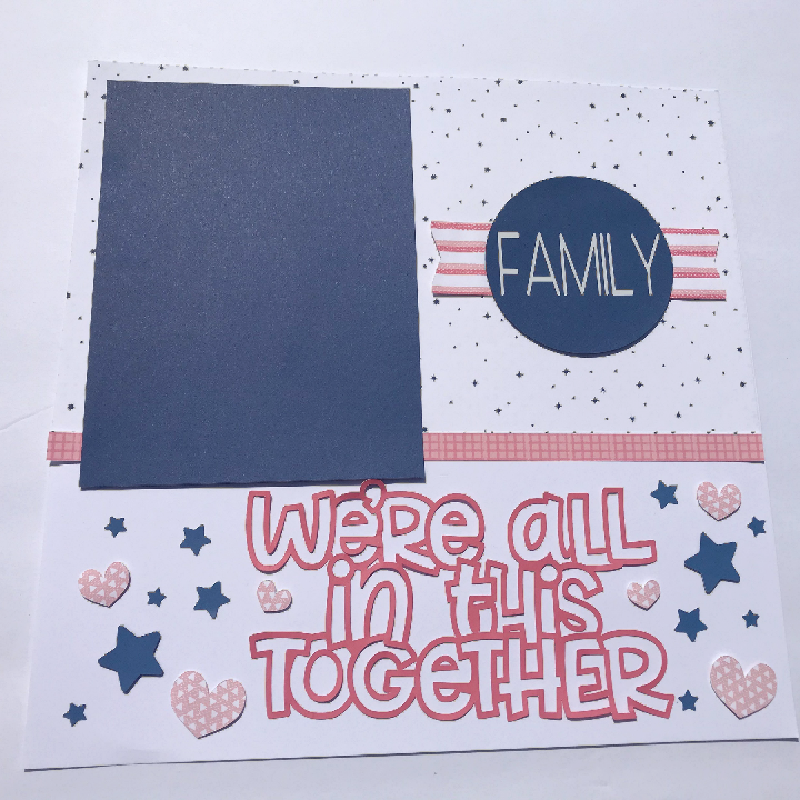 Easy Family Scrapbook Layout