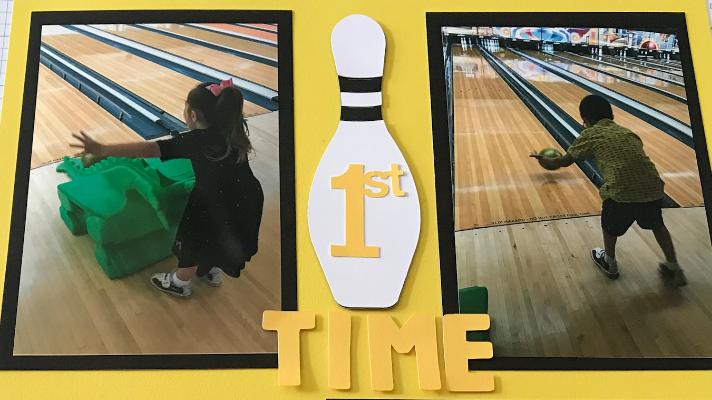 Kids Bowling Scrapbook Page
