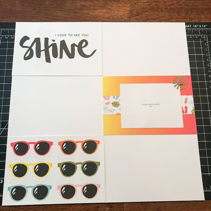 Quick scrapbook layouts with picture my life cards scrap supplies