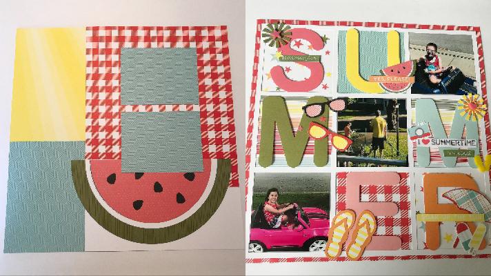 Summer Scrapbook templates for summer fun