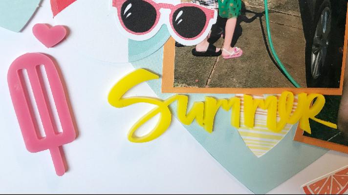 Summer Ideas for scrapbook layout templates