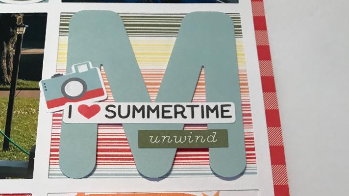 Summertime scrapbook page ideas