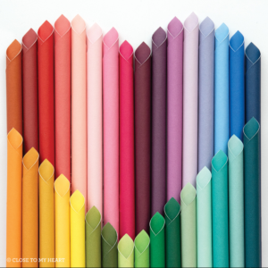 Variety of colored card stock paper