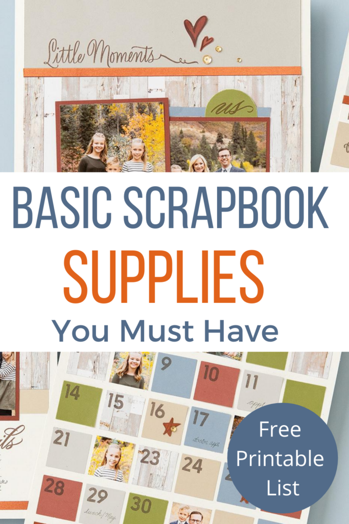 Basic Scrapbook Supplies You Must Have