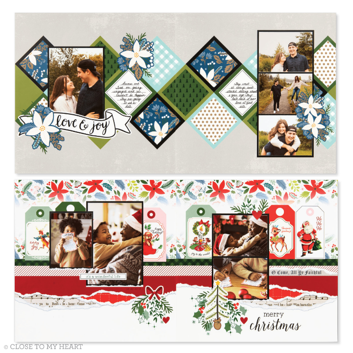 Cut above monthly scrapbook kit scrapbook layouts