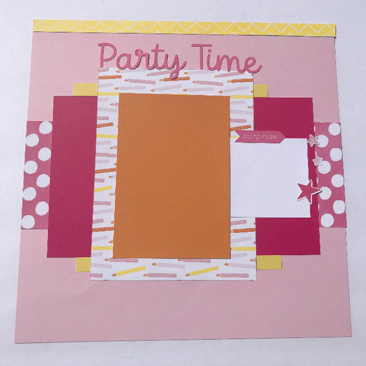 Happy Birthday Scrapbook Idea and cute page layout