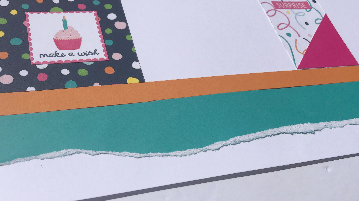 Happy Birthday Scrapbook Idea to Tear Paper