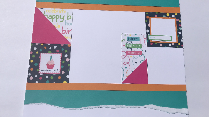 Happy Birthday Scrapbook Layout