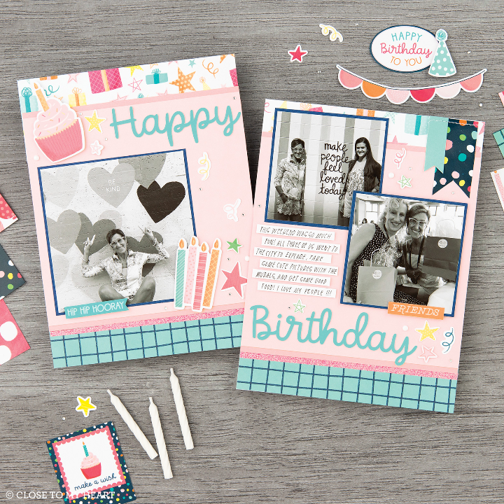 Close to My Heart Party Time Scrapbook Paper
