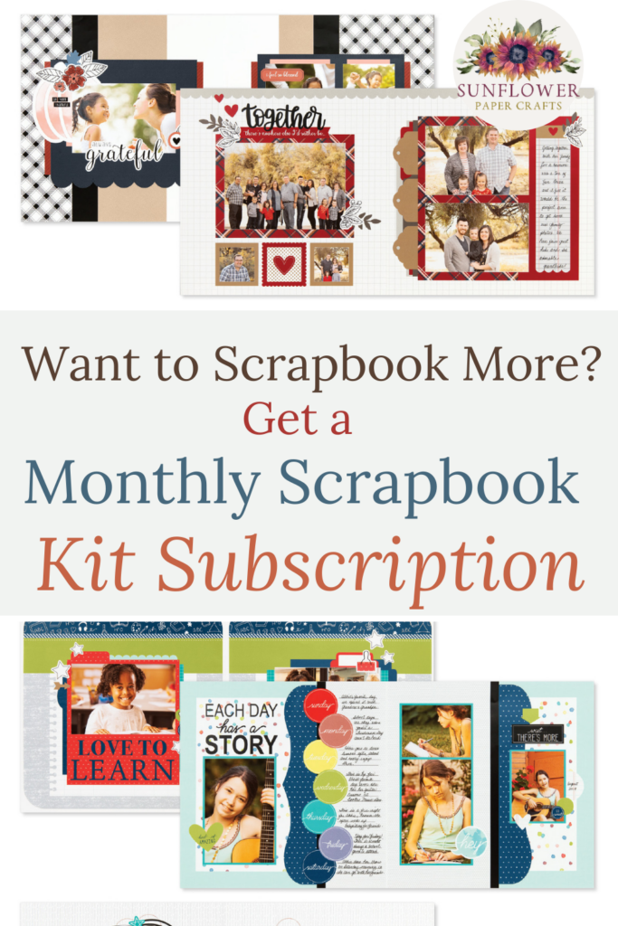 Scrapbook more with a monthly scrapbook kit subscription