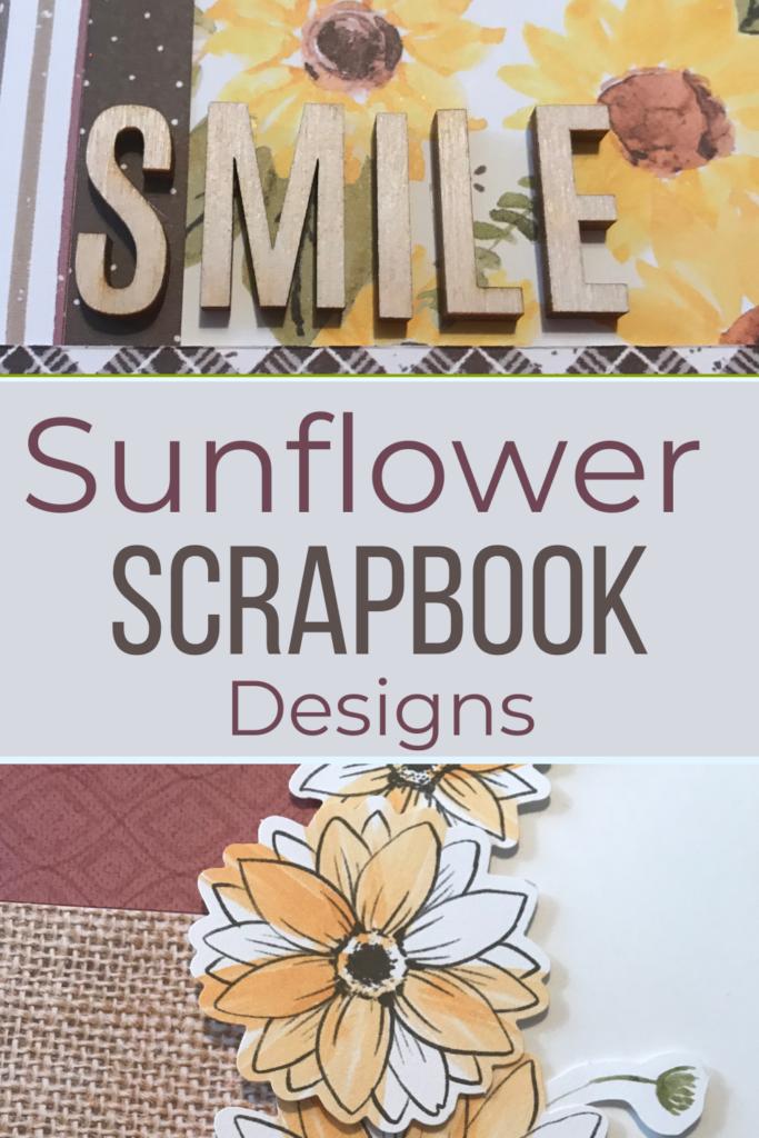 Sunflower Scrapbook Designs