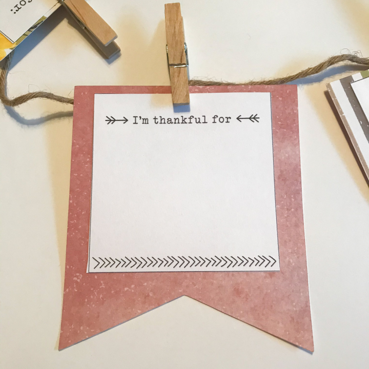 Thankful Banner DIY with Cricut and Paper