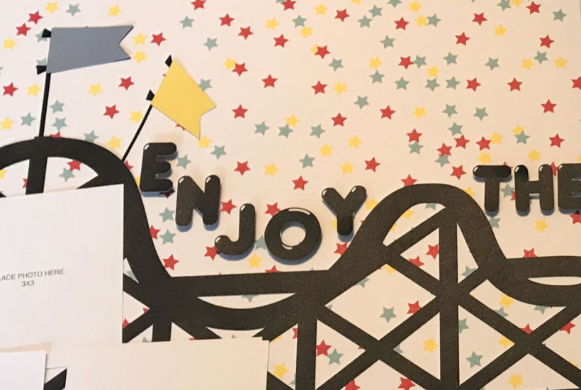 Amusement Park Themed Free Cricut Scrapbook Layout