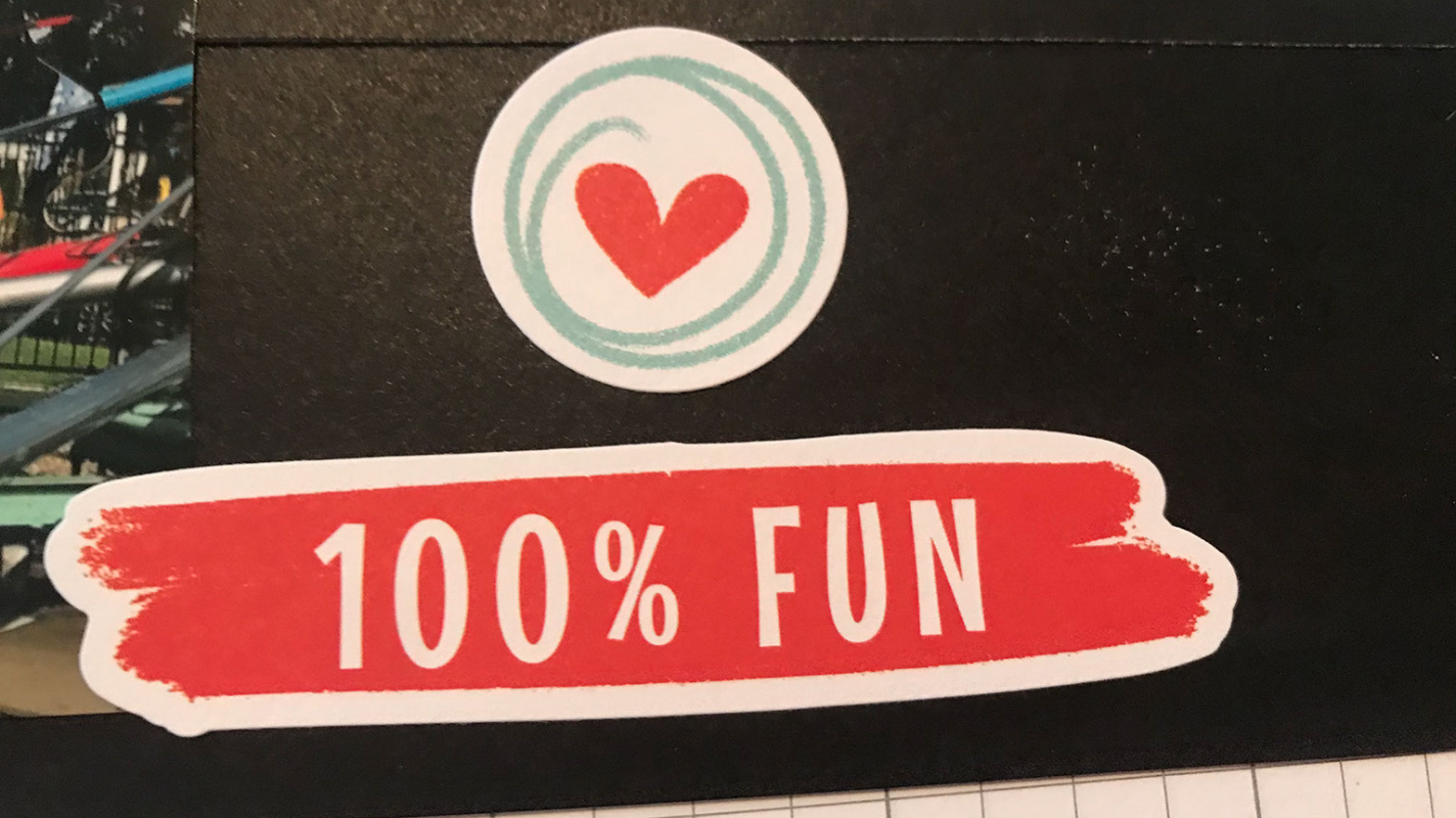 CTMH Happiest Place Stickers on the Free Cricut Scrapbook Layout