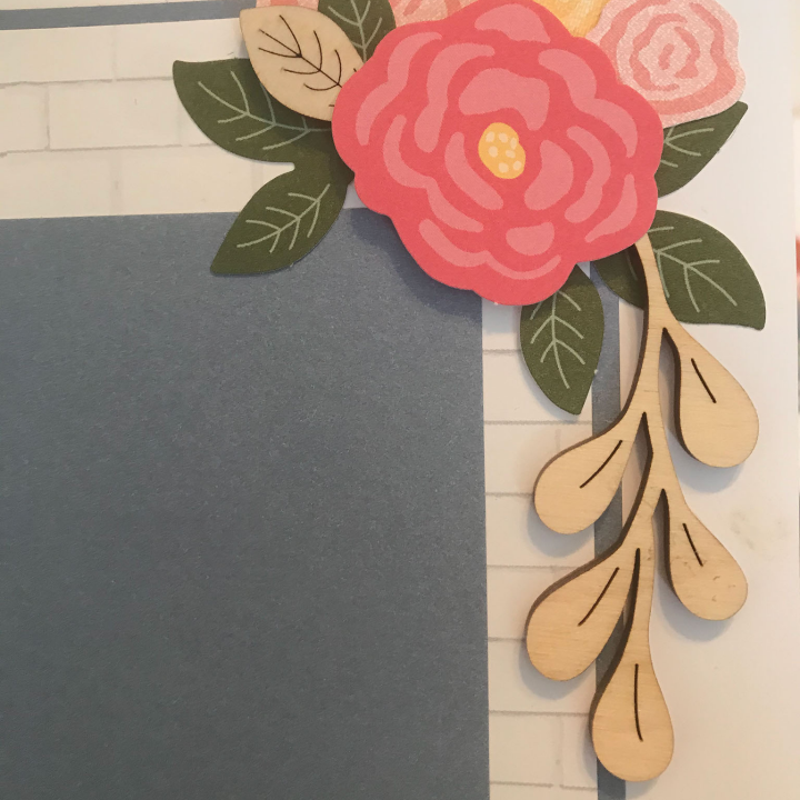 using wooden embellishments on scrapbook pages for inspiration