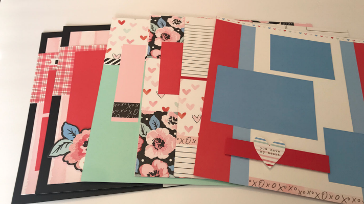 7 Valentines Scrapbook Layouts you will love