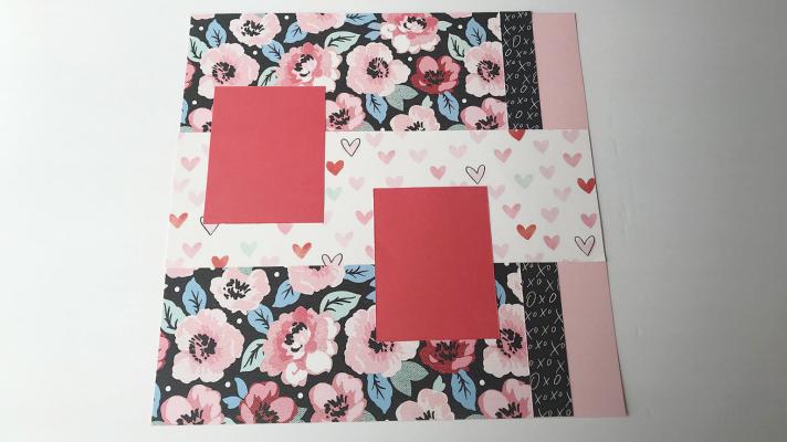 Creative handmade Valentine's Day Scrapbook page