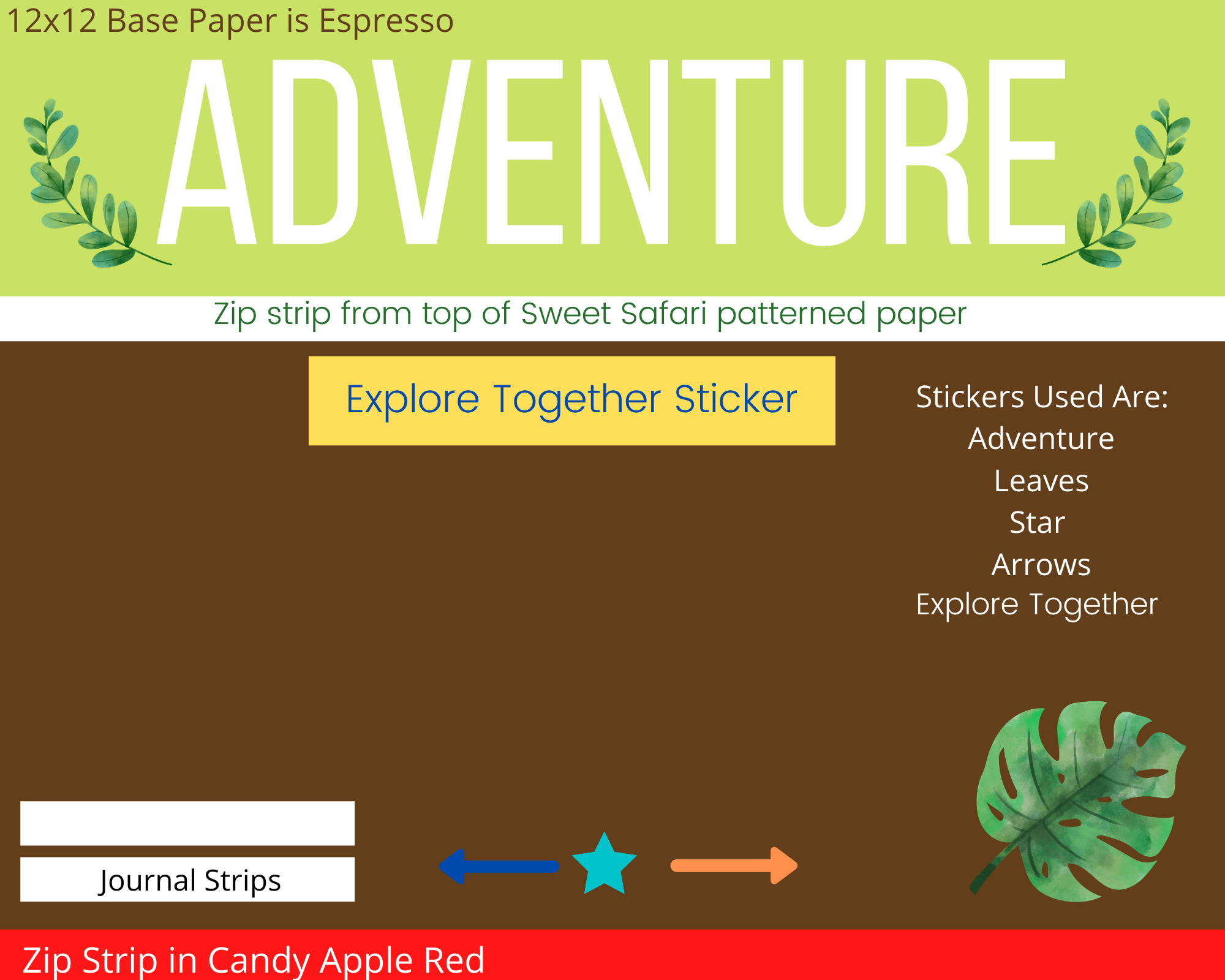 Kids Summer Adventure Scrapbook Page Design