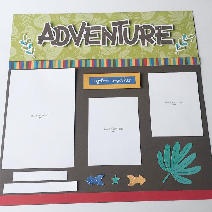 Kids adventure scrapbook layout