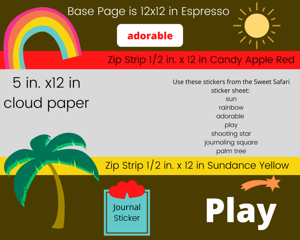 Easy Kids Play Scrapbook Page for Summer Memories