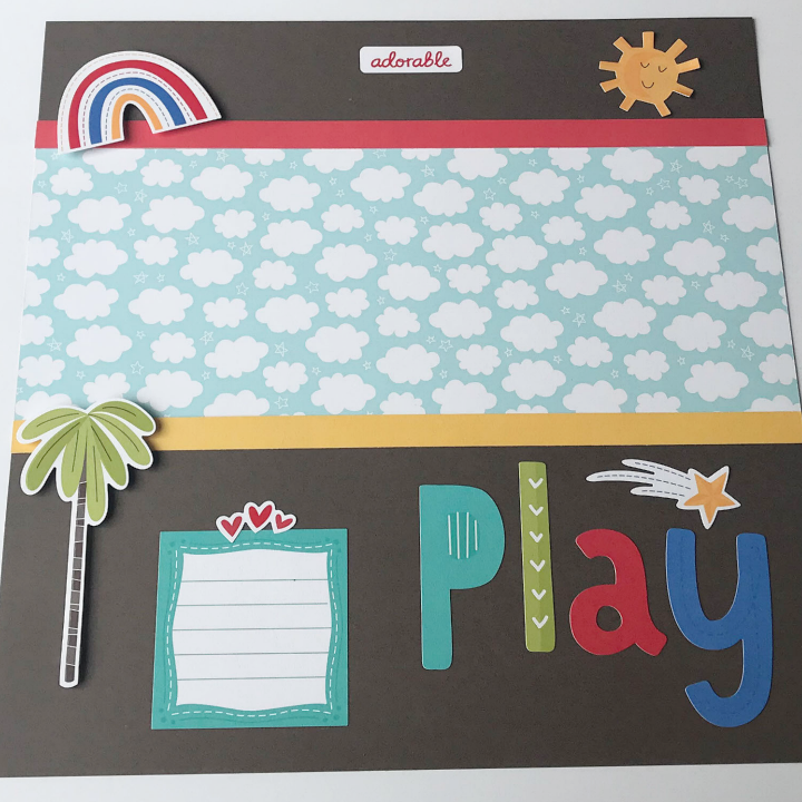 Easy kids scrapbook page idea for the playground or park