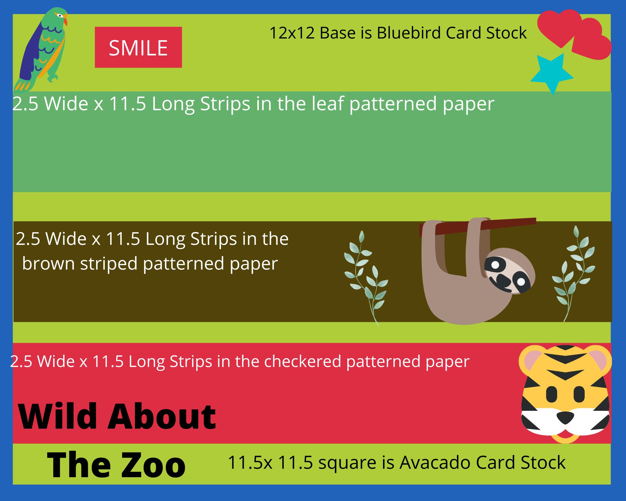 Kids Zoo Scrapbook Page Layout