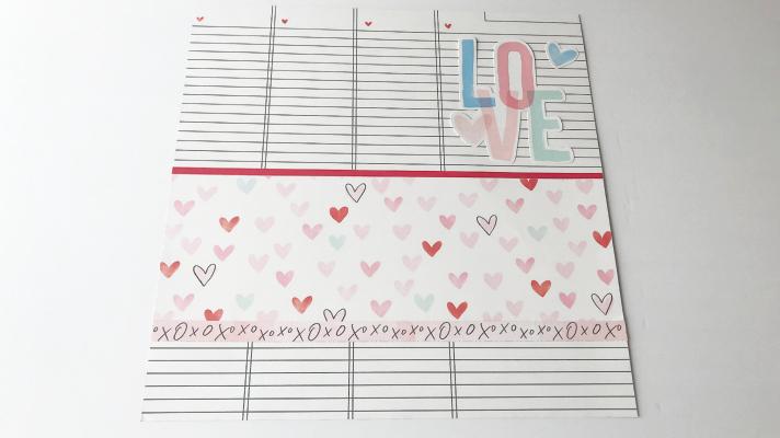 Love scrapbook page idea for Valentine's Day