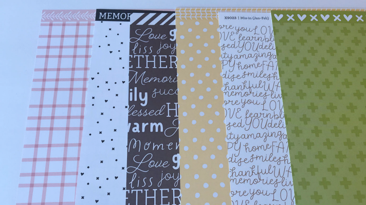 Mix in Patterned Scrapbook paper to create 12x12 pages