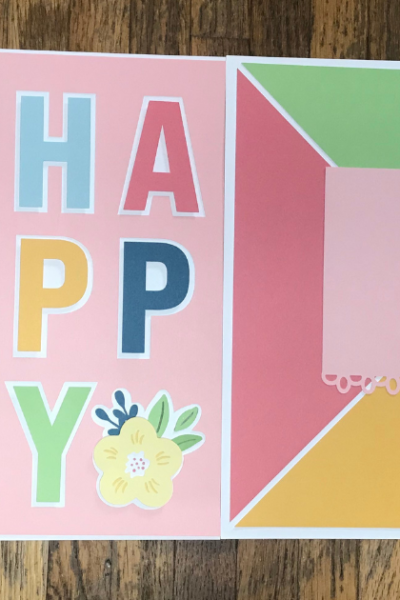 Cricut Spring Scrapbook Pages- Perfect for Easter