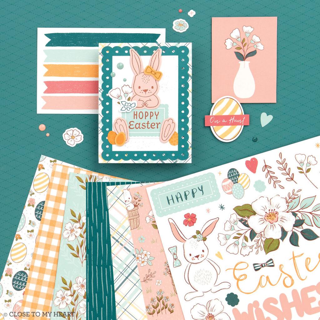Spring daisy meadow scrapbook paper