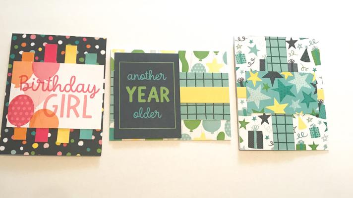 3 Easy Handmade Birthday Cards to make