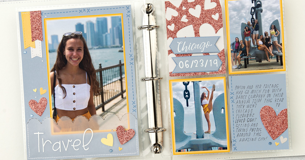 Beginner Scrapbook Tip is to have a theme for your scrapbook albums