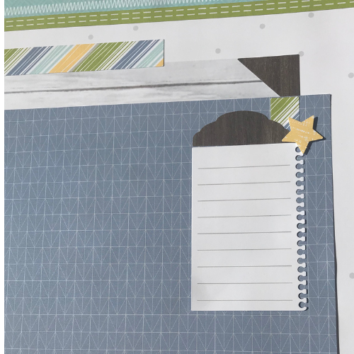 Scrapbook kits have spaces for journaling too
