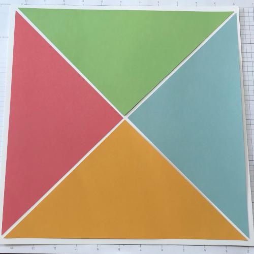 Cricut Spring Scrapbook template in Design Space