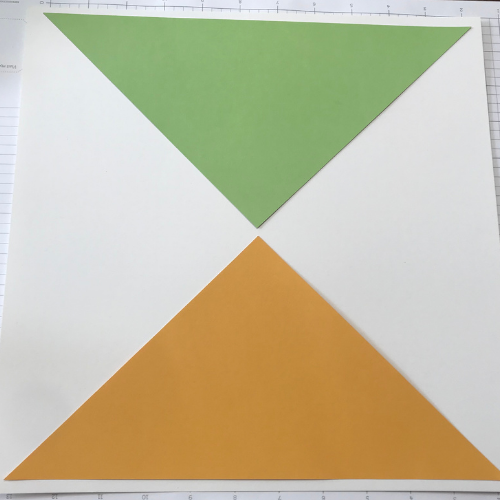 Cricut spring scrapbook pages with triangles