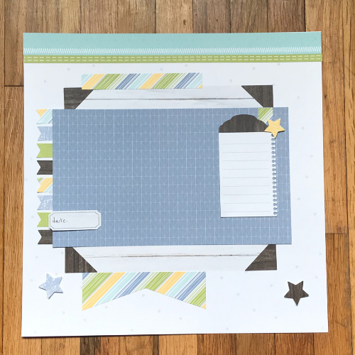easy scrapbook kit with instructions to use