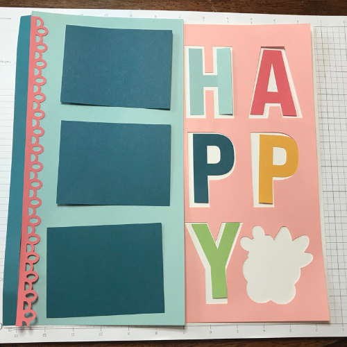 Layout the scrapbook page before you start glueing