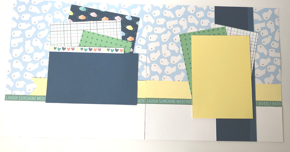 Lockdown scrapbook paper and page design ideas