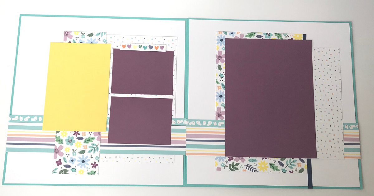 Quarantine Scrapbook page with a 12x12 double layout design