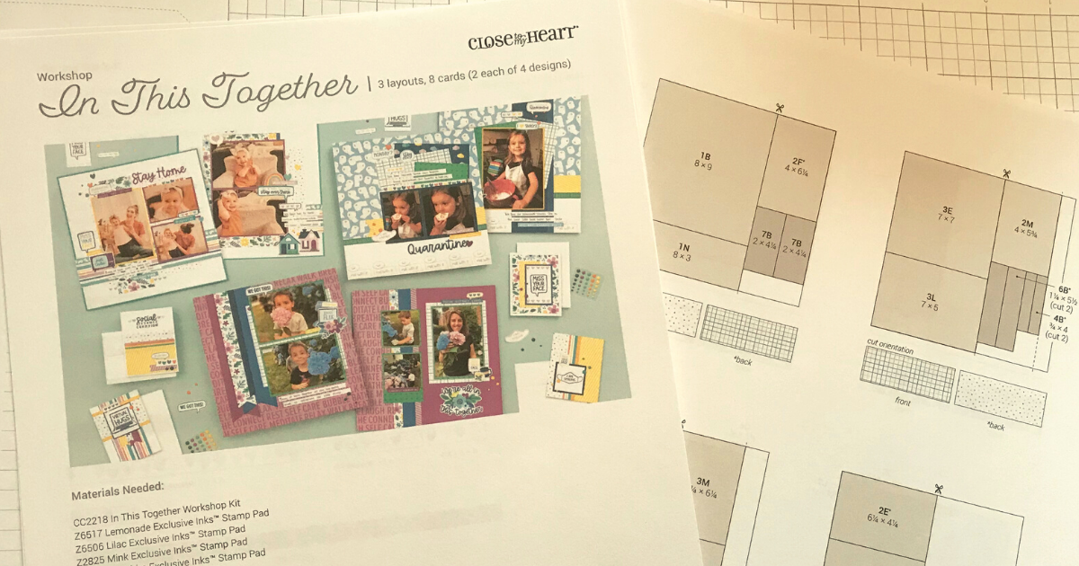 free scrapbook kit guide to create the quarantine scrapbook pages