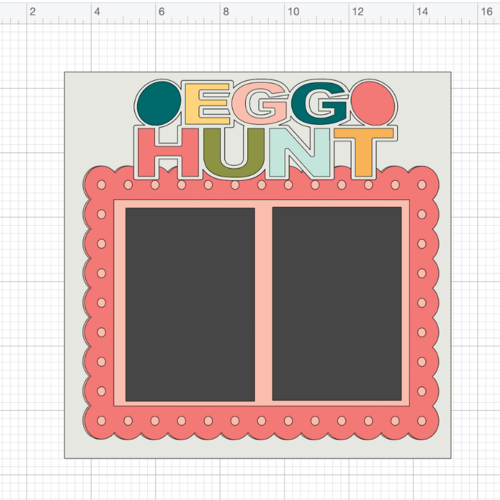 Add the title to your scrapbook page with Cricut