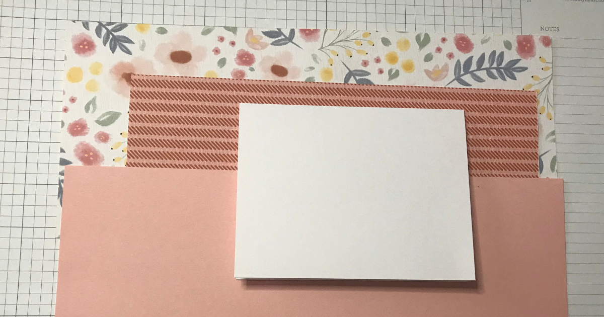 Card stock and patterned paper for the Cricut Mother's Day Card