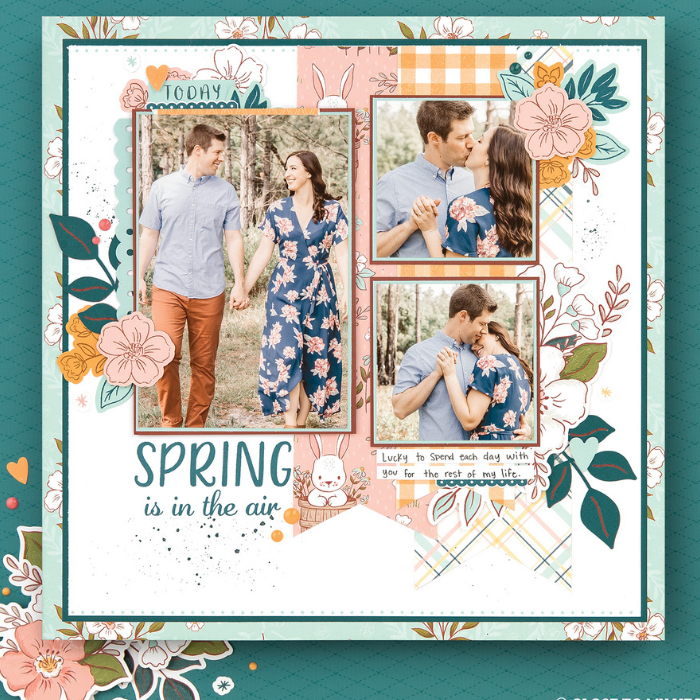 Daisy Meadows Easter Scrapbook Paper collection