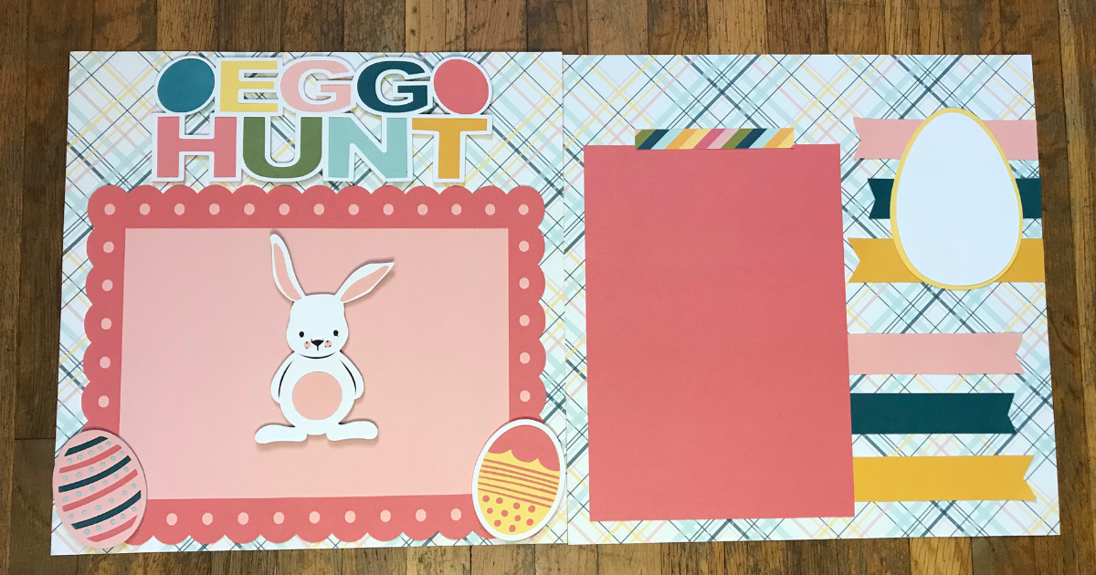 Double 12x12 scrapbook page with Cricut layout