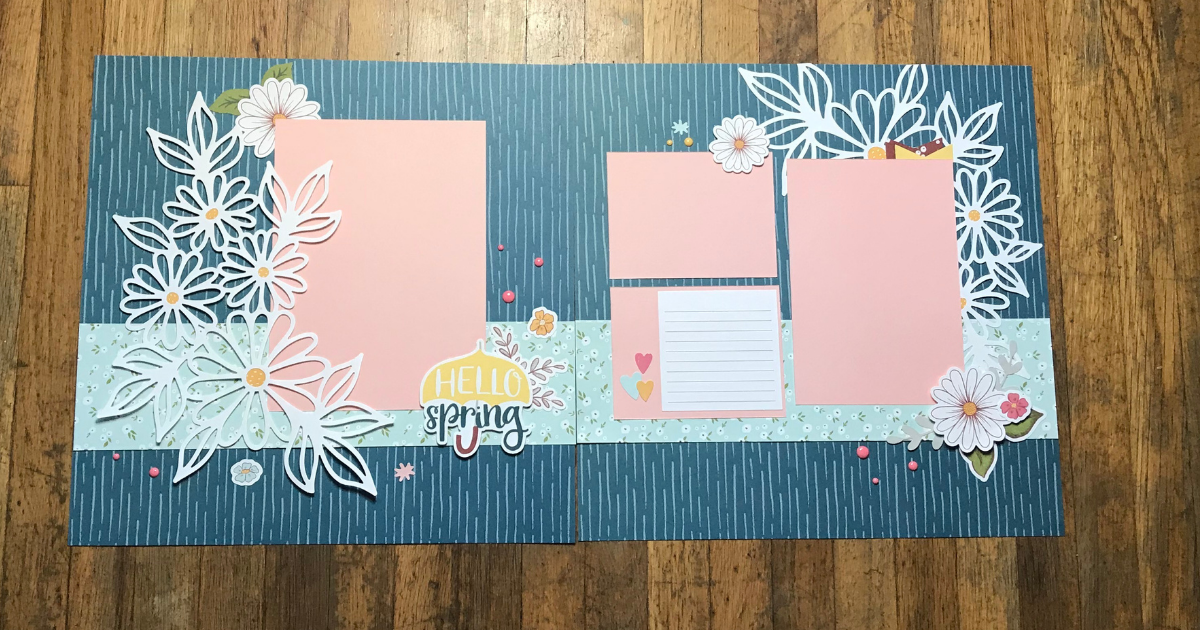 Easter Scrapbook Page Designs and Ideas with Scrapbook paper