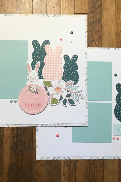 5 Easter Scrapbook Page Ideas (with Double Page Layouts)