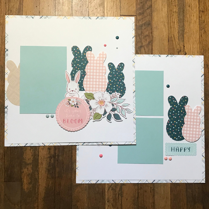 Easter Scrapbook Page ideas for Easter egg hunts and memories