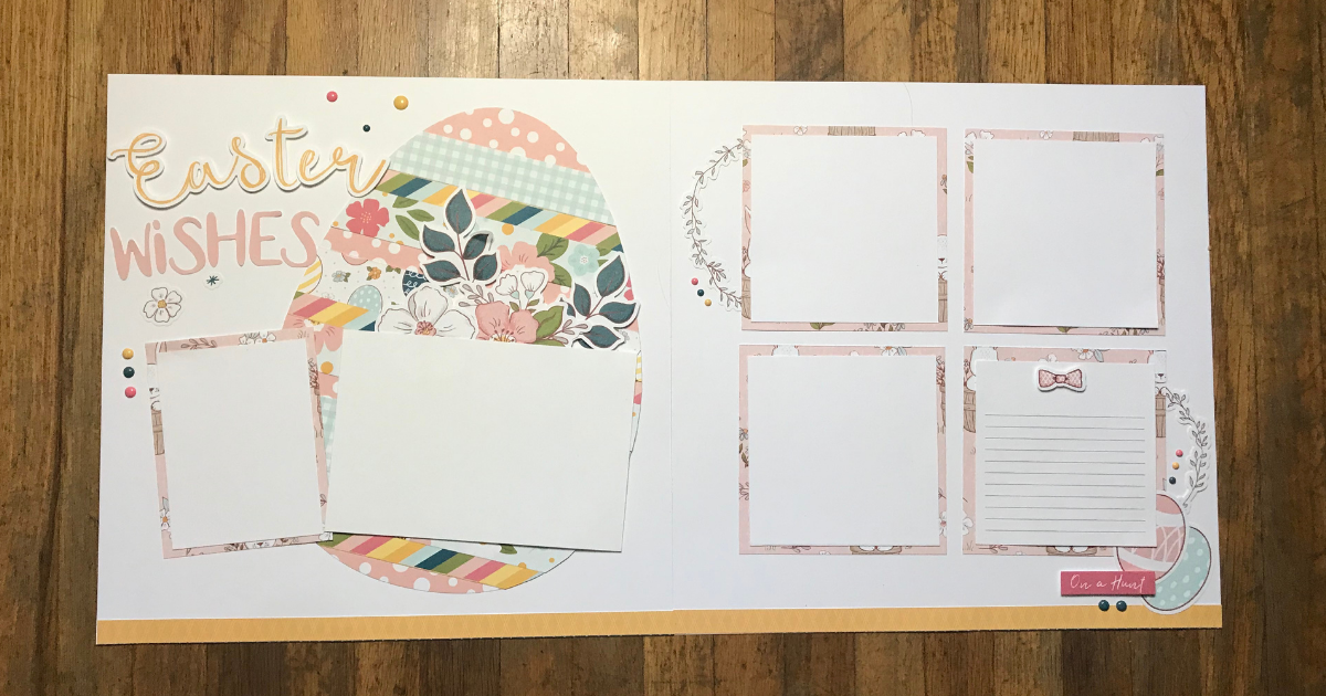 Easter Scrapbook Page Ideas with using a scrapbook kit