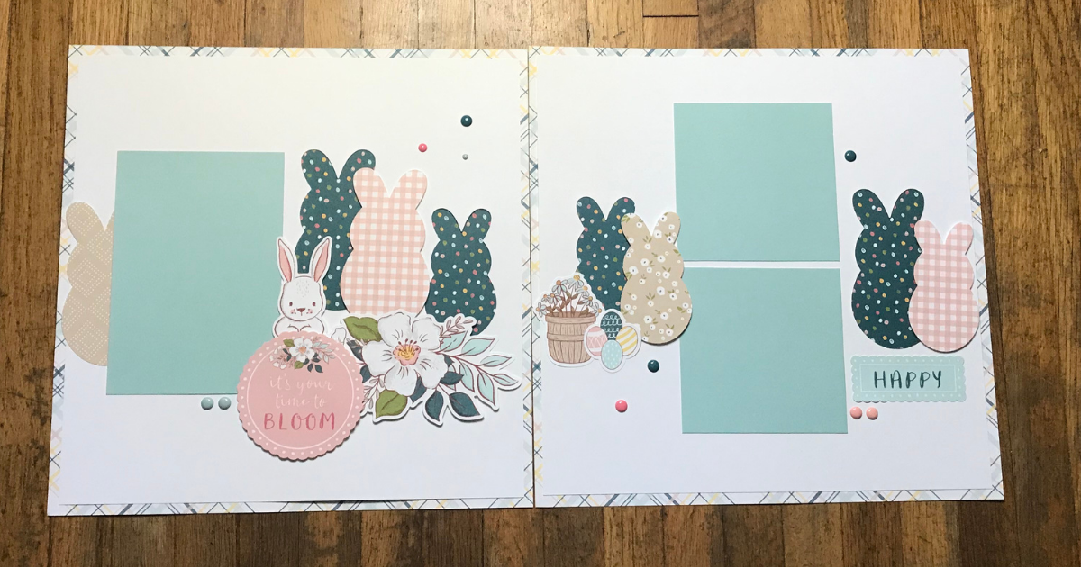Easter Scrapbook Page Ideas with the Easter Bunny